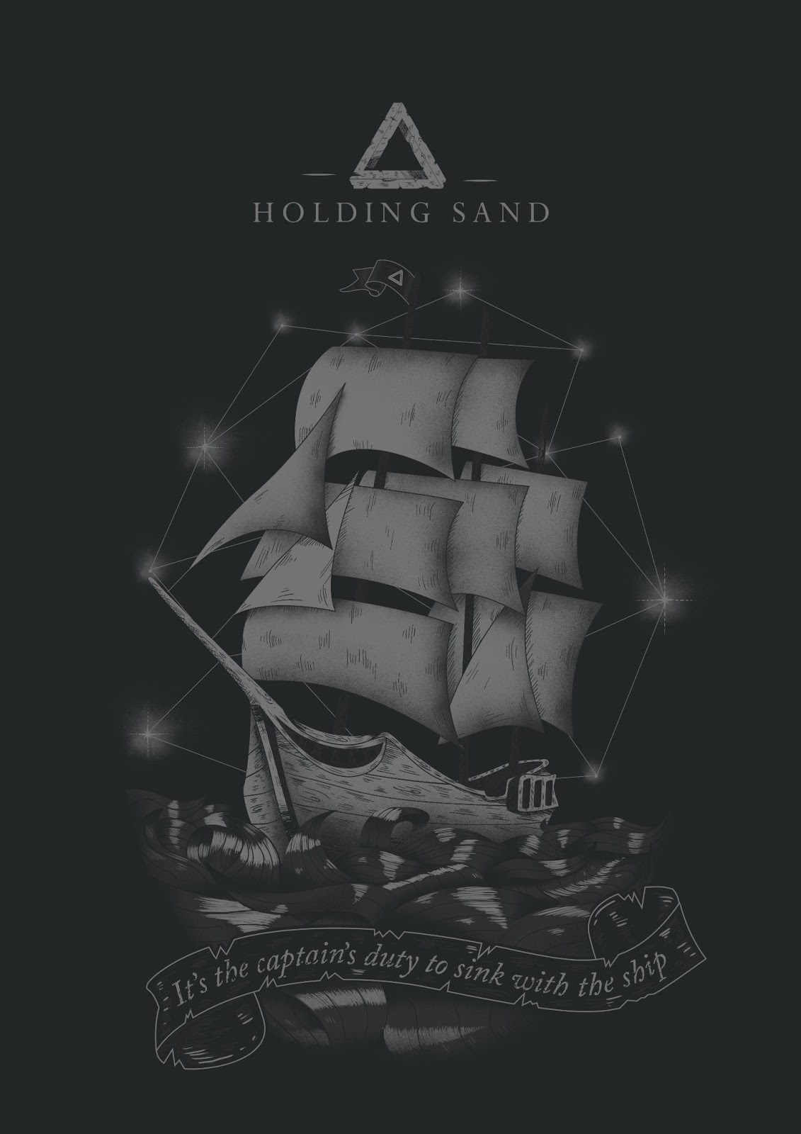 holding sand andarosa t shirt design merch graphiste tours