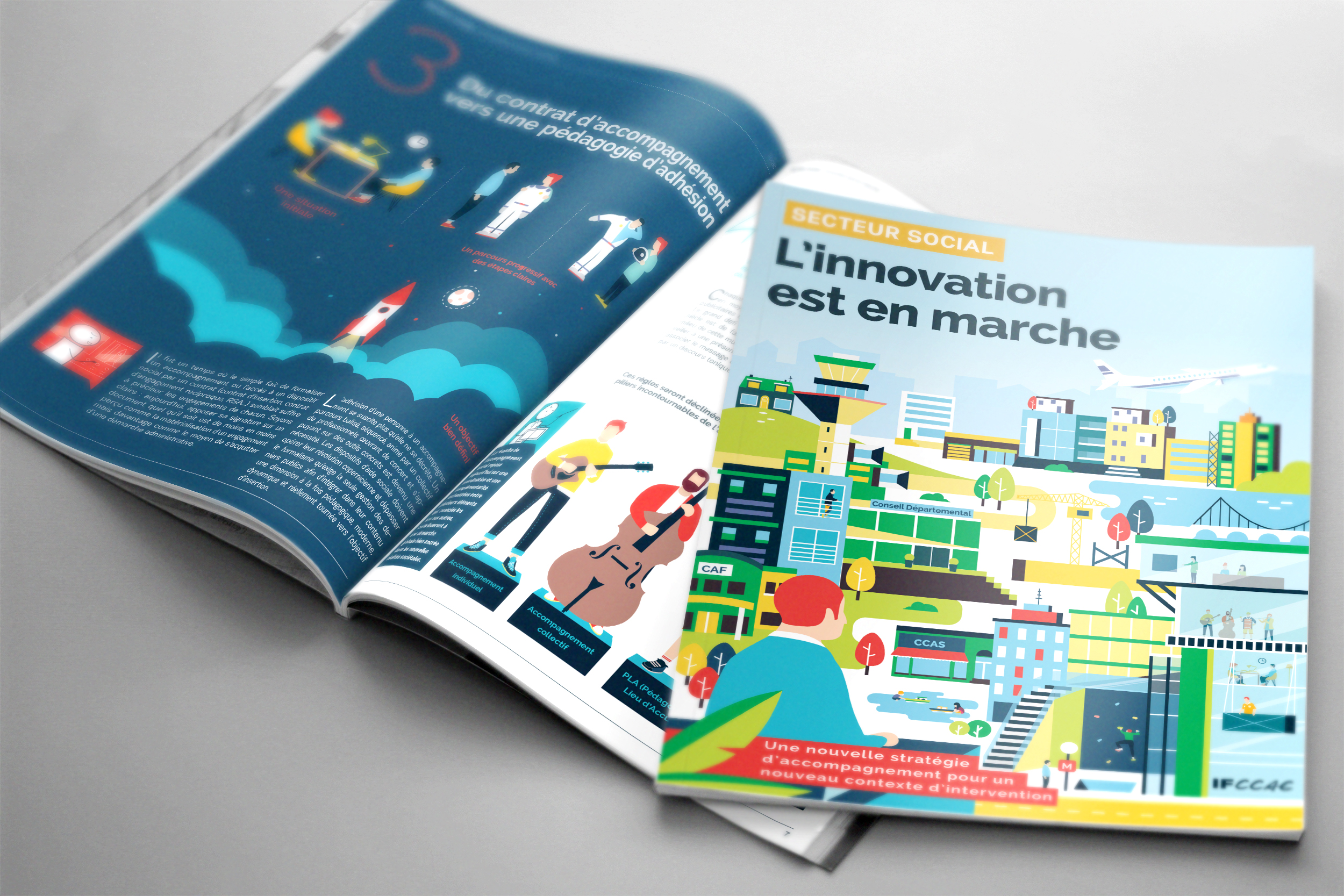 Andarosa graphiste freelance tours 37 illustration illustratrice illustrateur magazine flat vectorielle mise en page